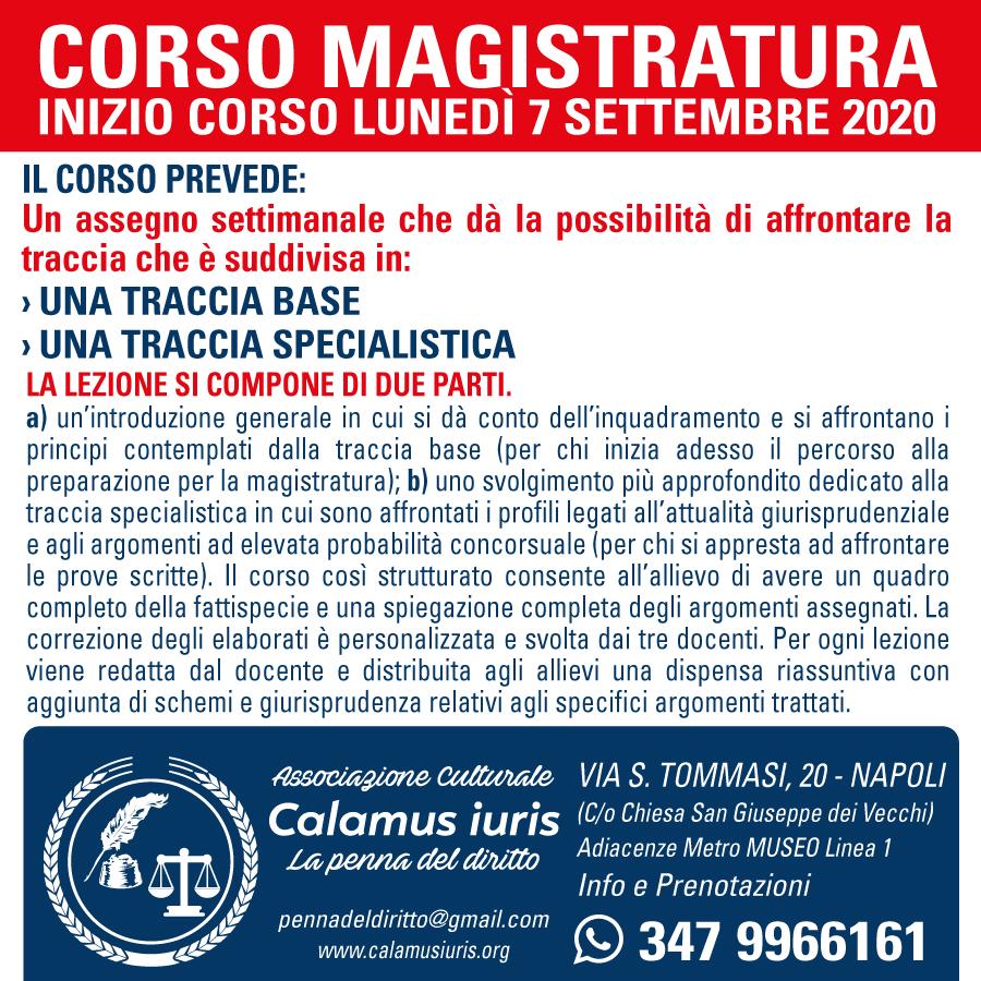 Corso Magistratura
