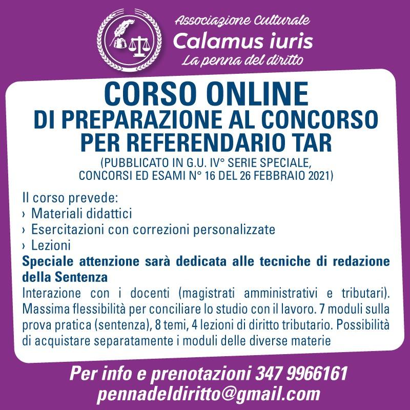 Corso TAR